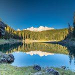 Karersee mit Rosengarten Südtirol